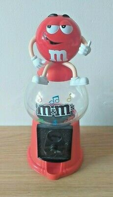 M&M's Sweet Dispenser Red Money Box Collectable Food Advertising Chocolate  • 8£