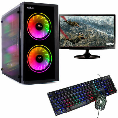 Fast Gaming Computer Bundle Intel Quad Core I5 16GB Windows 10 2GB GT710 PC   • 319.95£