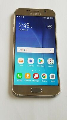 $ CDN105.22 • Buy Samsung Galaxy S6 SM-G920V- 32GB - Gold- Verizon Unlocked-ScrnBrn # 74OC