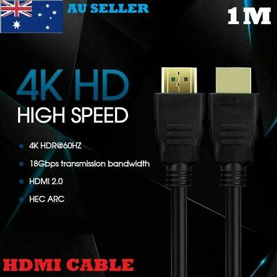 AU4.96 • Buy Ultra HD V2.0 Premium HDMI Cable 4K 2160p 1080p 3D High Speed Ethernet ARC HEC