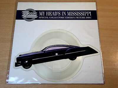 EX/EX !! ZZ Top/My Head's In Mississippi/1991 Shaped Picture Disc 7  Single • 12.99£