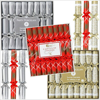 8 Mini Luxury Vintage Christmas Crackers Wedding Christmas Dinner Party Favours • 7.99£