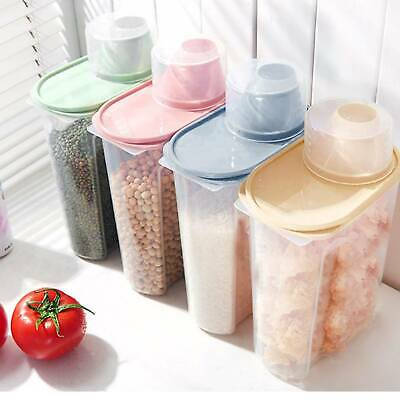 £6.99 • Buy 4x Cereal Containers Dispenser Food Storage Dry Food Kitchen 1.9 Litres