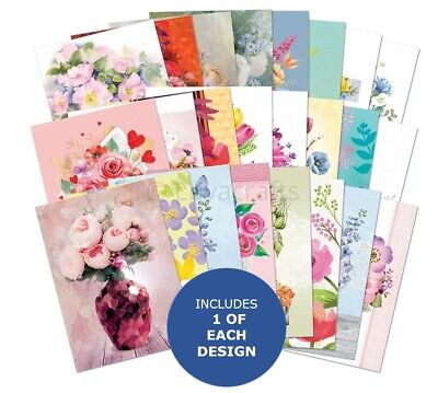 Hunkydory The Little Book Of Flourishing Florals Sample Pack 24 Sheets X A6 • 2.99£