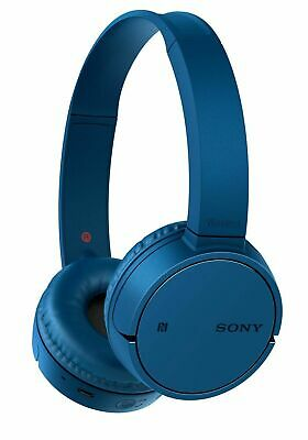 Sony WH-CH500 On-Ear With Mic Adjustable Wireless Headphones - Blue • 39.99£