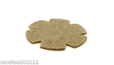 6 X TOP QUALITY PRE-CUT JUTE NEST FELTS/LINERS FOR CANARY NESTING PANS • 3.20£