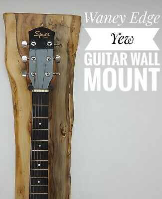 $ CDN257.93 • Buy Exceptional One Off Spalted Yew Waney Edge Guitar Stand Wall Mounted Bracket