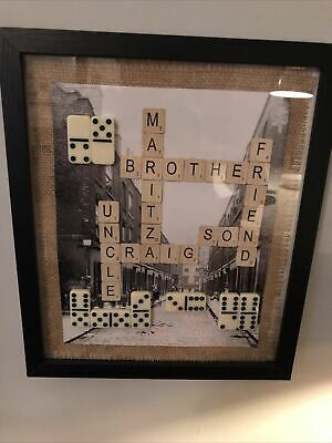 Personilised Scrabble Picture Bespoke To Your Personal Details • 32£