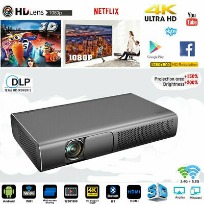 AU796.95 • Buy High 9000 Lumens DLP Android HD 1080P Home Cinema Projector 3D 4K Wifi HDMI USB
