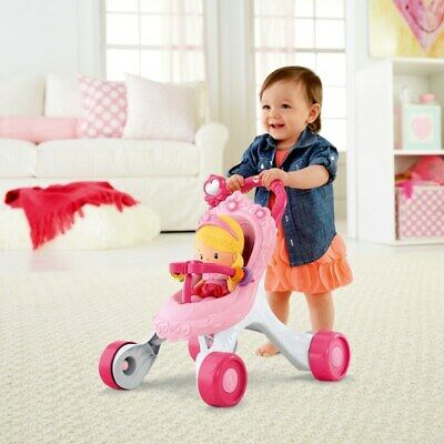 £47.98 • Buy Fisher-Price Princess Stroll-Along Musical Walker And Doll Gift Set