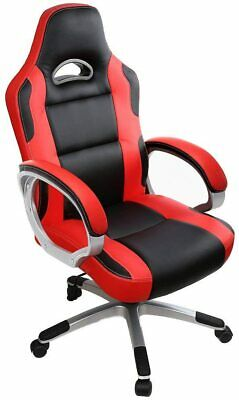 AU202.20 • Buy Red Black Gaming Chair High Back Office Desk F1 Racing Reclining Swivel PC Seat
