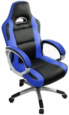 AU202.20 • Buy Blue Black Gaming Chair High Back Office Desk F1 Racing Reclining Swivel PC Seat