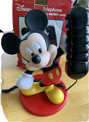 £99.99 • Buy Disney Mickey Mouse Telephone By Mybelle Boxed Press Button Dialing Rare