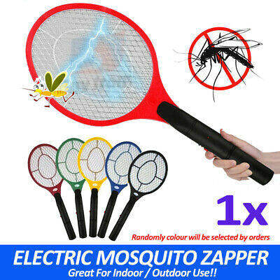 AU8.99 • Buy Electronic Fly Swatter Mosquito Bug Insect Kill Zapper Racket Randomly Colour