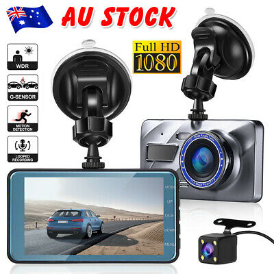 AU55.95 • Buy 1080P Car Dash Camera Dual Front And Rear Video DVR Recorder Night Vision Kit