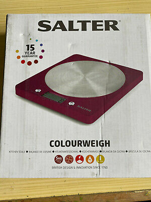 Bnib Salter Colour Weigh Electronic Kitchen Scales In Funky Fuchia Pink • 16.99£