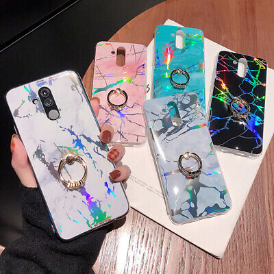 Laser Marble Soft Case Cover For Huawei P20 P30 Mate 20 Pro Y7 2018 Gel Stylish • 5.08£