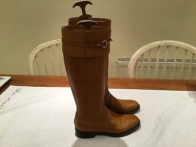 Womens Brown Gucci Riding Boots Size 7 • 350£