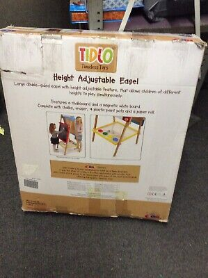 BRAND NEW Tidlo Wooden Height Adjustable Double-Sided Art Easel, Paint Draw • 60£