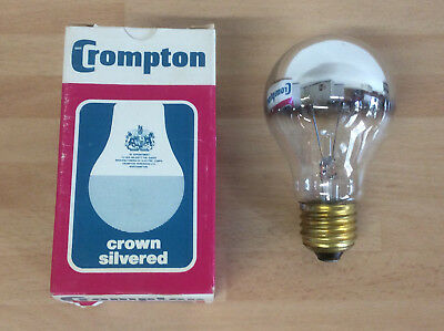Crompton 60w ES GLS Crown Silver Lightbulb, Sign Lamp Bulb, Backlight Warm White • 3.99£