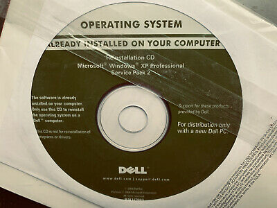 Microsoft Windows XP Professional Reinstallation CD For Dell Computers • 10£