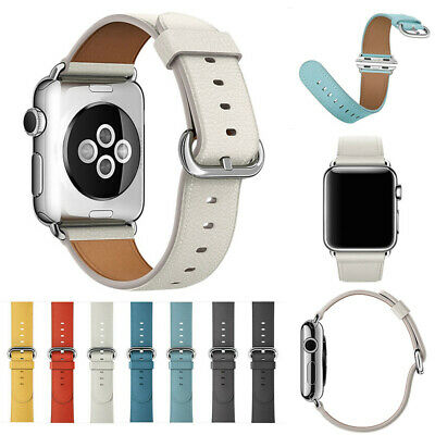 AU8.99 • Buy Genuine Leather Strap IWatch Band For Apple Watch Series 6 5 4 3 2 SE 40mm 44mm