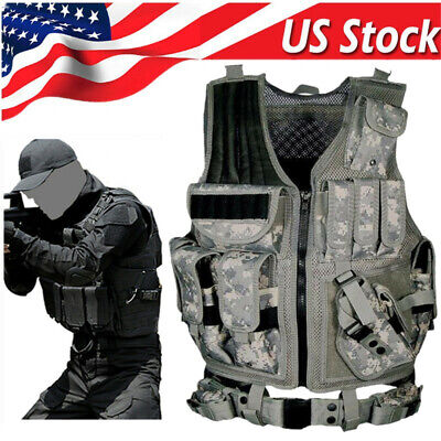 $29.66 • Buy Tactical Vest Breathable Military Army Molle Combat Hunting CS Field Training US