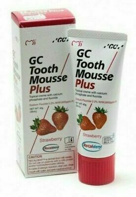 AU45.07 • Buy Gc Recadent Tooth Mousse Plus (Strawberry Flavor) 40 Gm (Free Shipping World)