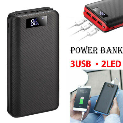 AU17.99 • Buy Power Bank 50000mAh External Pack 3USB Battery Charger LED For Mobile Phone