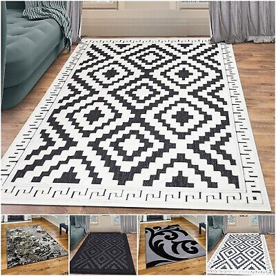 Modern Large Living Room Rugs Non Slip Hallway Runner Bedroom Carpet All Sizes • 55.99£