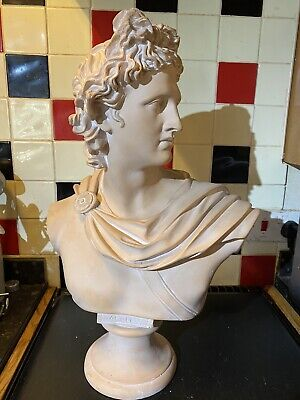 Large Greek God Apollo Bust Statue - Very Heavy! • 125£