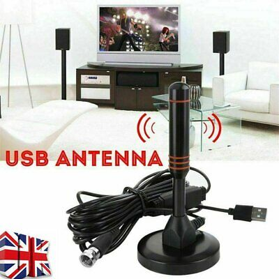 Digital TV Aerial Camping Tent High Gain Freeview Antenna Magnetic 200Mile NEW • 10.95£