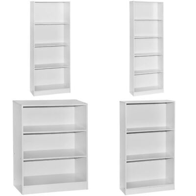 £24.85 • Buy Cambridge Bookcase Display Shelving Storage Unit Wooden Shelves Stand White