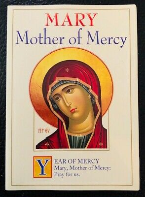 £2.50 • Buy Mary Mother Of Mercy Prayer Card For Use At Home And Travel, Catholic, Anglican