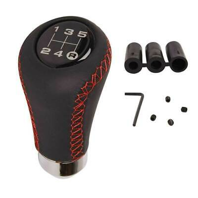 AU18.99 • Buy Universal Leather 5 Speed Black Red Manual Gear Stick Shift Knob Shifter Lever