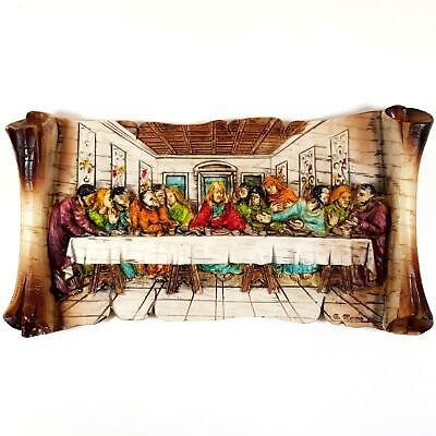 £6 • Buy Jesus Christ The Last Supper Resin Wall Plaque By G Muraro