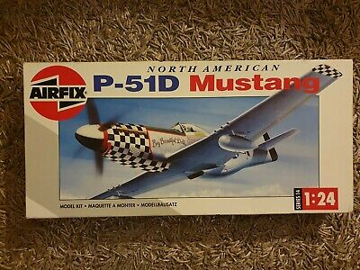 Airfix 1/24 North American P-51D Mustang Ref:14001 • 65£