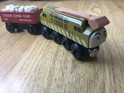Wooden Diesel 10 Train & Sodor China Clay Truck For Thomas & Friends / Brio Etc • 12.49£