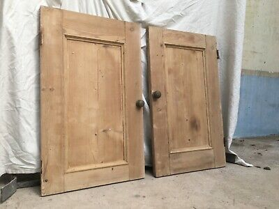 Vintage 2 Pine Cupboard Doors 46cm X 76cm Collection Only EX2 4DN • 0.99£