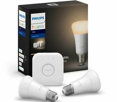 AU89 • Buy Philips Hue White A60 E27 Starter Kit - Edison Bulb - BRAND NEW - SEALED