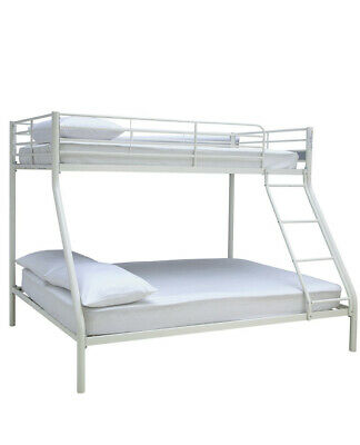 Home Willen Triple Metal Bunk Bed - White • 169.99£