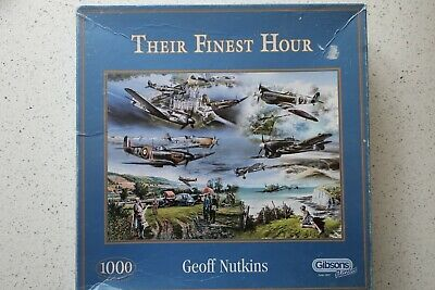 Gibsons  Their Finest Hour  1000 Pc Jigsaw Puzzle By Geoff Nutkins • 1.99£