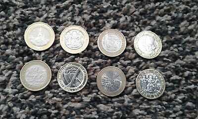 2 Pound Coins Job Lot Of 8 Rare Coin  • 20£