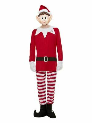 Mens Elves Behavin' Badly Costume Christmas Elf Adults Xmas Fancy Dress Outfit • 27.99£
