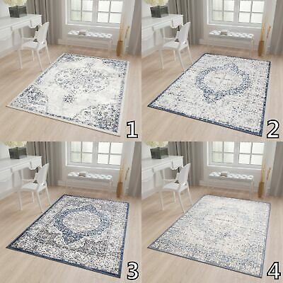 Cream Beige Grey Rug Traditional Vintage Soft Carpet S - XXL Size Living Room • 61.90£