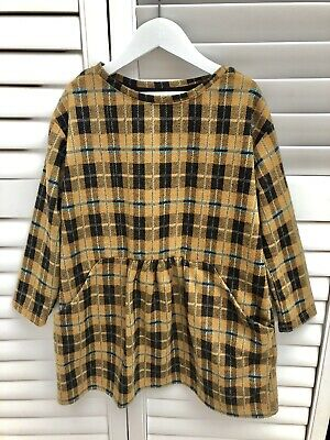 Zara Girls Checked Dress - Aged 7 - Excellent Condition • 5.99£