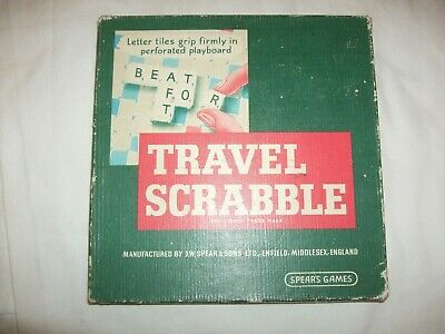 Vintage Travel Scrabble Word Game  Spear's • 7.99£