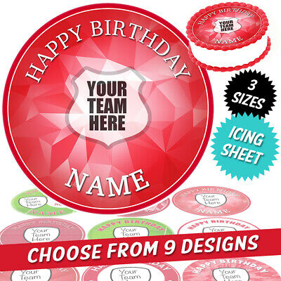 Liverpool Cake Topper Personalised Round Circle Edible Icing • 2.99£
