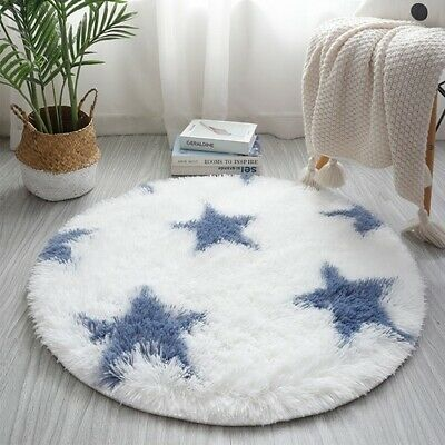 Soft Round Fluffy Decor Modern Area Rug Nursery Room Shaggy Carpet Indoor Mats • 138.90£