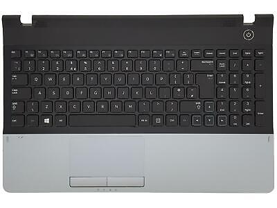 Samsung NP300E5A NP300E5C Palmrest Touchpad Cover Keyboard UK Black Silver • 28£